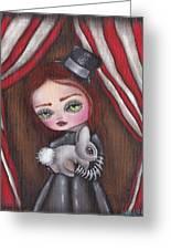 Magician Girl Greeting Card