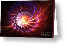 Magma Shell Greeting Card