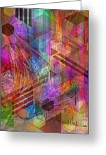 Magnetic Abstraction Greeting Card by John Robert Beck