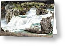 Magnificence Of Shoshone Falls Greeting Card