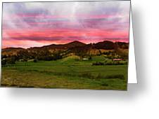Magnificent Andes Valley Panorama Greeting Card