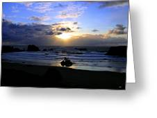 Magnificent Bandon Sunset Greeting Card