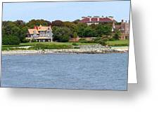 Magnificent Homes Along Cliff Walk Greeting Card