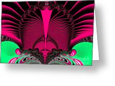 Magnificent Sunrise Reflections Fractal 119 Greeting Card