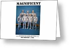 Magnificent - The Mercury Seven Greeting Card by Richard Reeve