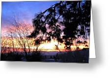 Magnificent Winter Sky Greeting Card