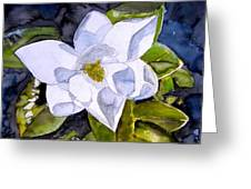 Magnolia 2 Flower Art Greeting Card