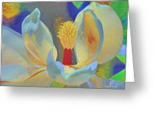 Magnolia Abstract Greeting Card