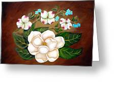 Magnolia And Dogwood Greeting Card