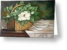 Magnolia Basket Greeting Card