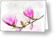 Magnolia Flowers Greeting Card