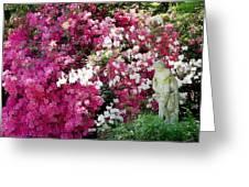 Magnolia Gardens Lagoon And Sculpt Greeting Card