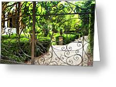 Magnolia Gate Greeting Card