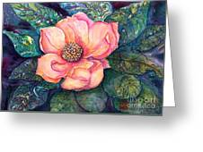 Magnolia In The Evening Greeting Card