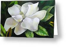 Magnolia Oil Painting Greeting Card