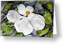 Magnolia Tree Flower Greeting Card
