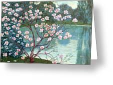 Magnolia Greeting Card by Wilhelm List
