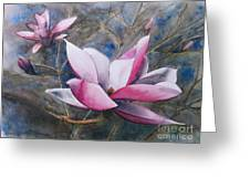 Magnolias In Shadow Greeting Card