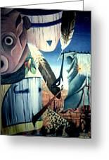 Magpie Mocks Kachinas Clowns And Fools Greeting Card