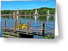 Mahone Bay Nova Scotia Greeting Card