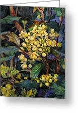 Mahonia Morning  Greeting Card