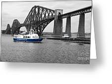 Maid Of The Forth In Blue. Greeting Card