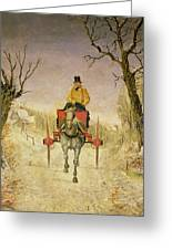 Mail Cart Christmas Greeting Card