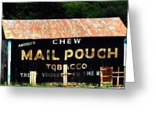 Mail Pouch Greeting Card