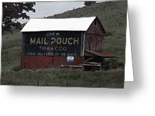 Mail Pouch Tobacco Barn Greeting Card