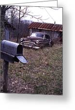 Mailbox Car Greeting Card