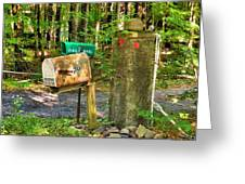 Mailbox On The Rural Country Road Greeting Card