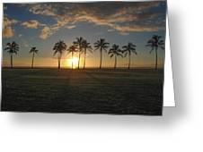 Maili Sunset Greeting Card