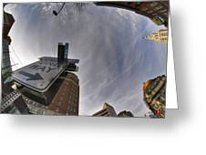 Main And Genesee St Downtown Buffalo Greeting Card