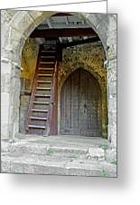 Main Entrance To St Mary's Church At Brading Greeting Card