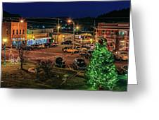 Main Street Christmas Greeting Card