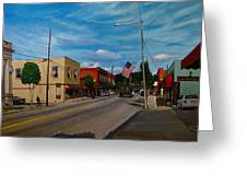 Main Street Clayton Nc Greeting Card