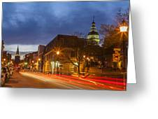 Main Street In Annapolis Greeting Card