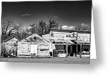 Main Street In Fort Shaw, Montana Greeting Card