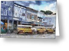 Main Street Mackinac Island Michigan Pa 04 Greeting Card