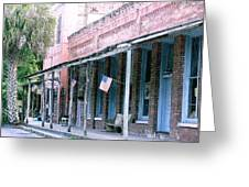 Main Street Micanopy Florida Greeting Card