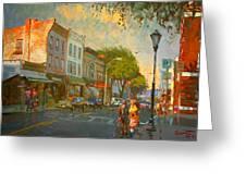 Main Street Nyack Ny  Greeting Card by Ylli Haruni