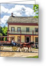 Main Street Of A Bygone Era At Old World Wisconsin Greeting Card