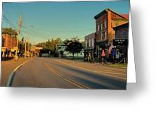 Main Street - Old Forge New York Greeting Card