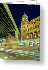 Main Street Station-vertical Greeting Card