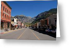 Main Street Telluride Greeting Card by David Lee Thompson