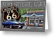 Main Street, Usa Camaro Greeting Card