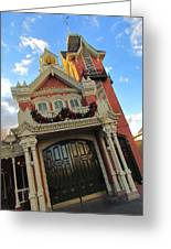 Main Street Usa Fire Department Greeting Card