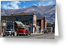 Main Town Street Greeting Card