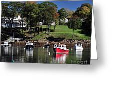 maine 18 Rock Port harbor View Greeting Card
