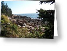 Maine Atlantic Ocean Coast Greeting Card